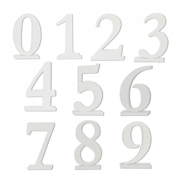 Tischnummer weiss