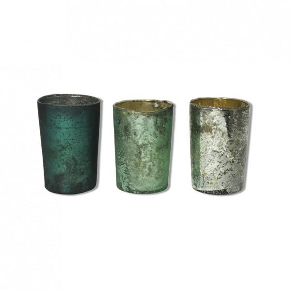 Vase marmoriert Glas klein