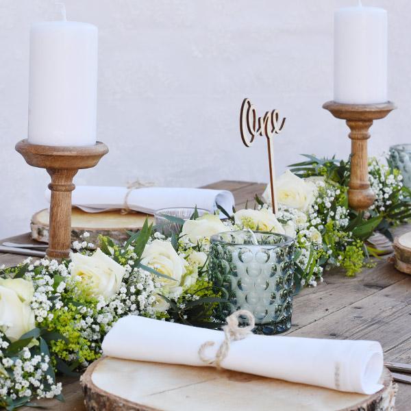 Kerzenständer 1-arm Holz [mieten]