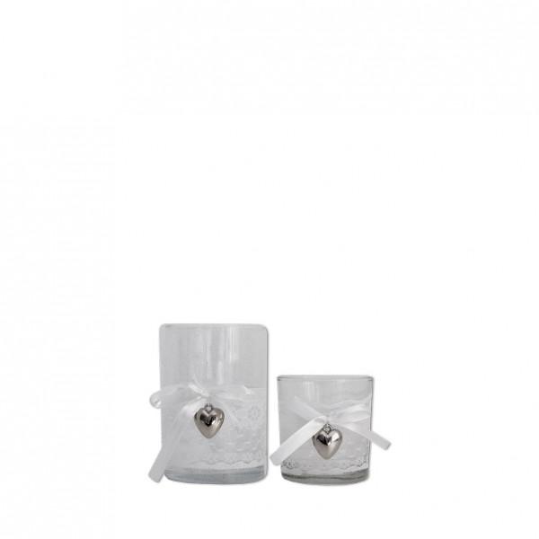Vase Spitze Silberherz