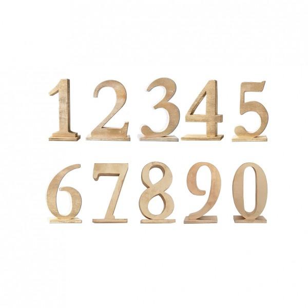 Tischnummer gold
