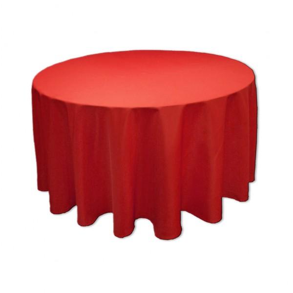 Tischdecke rot rund 275 cm