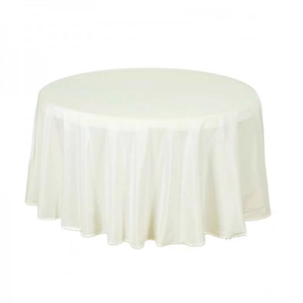 Tischdecke ivory rund 275 cm