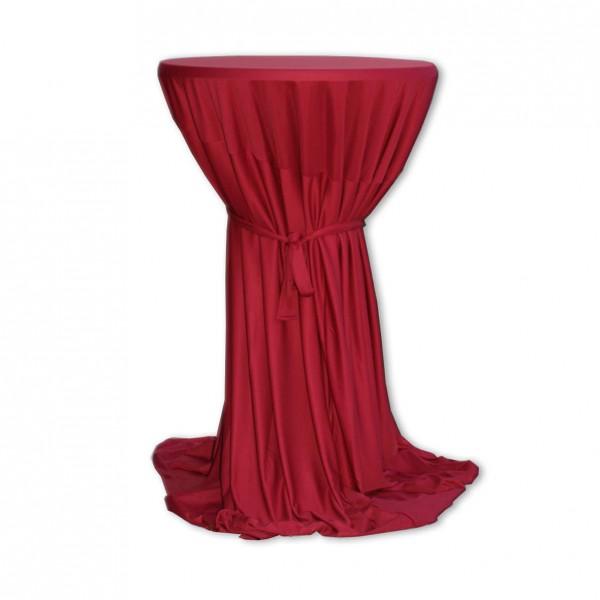 Stehtischhusse Polyester rosenrot