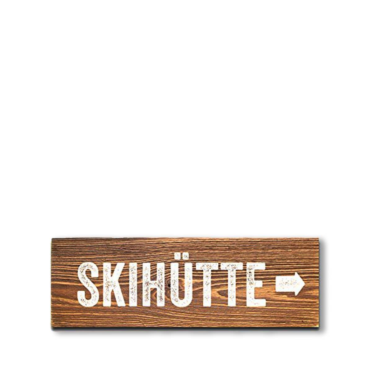 Schild Skihutte Dekoanddesign Mietservice