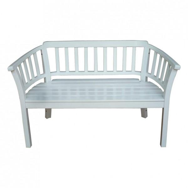 Traubank 2-Sitzer weiß