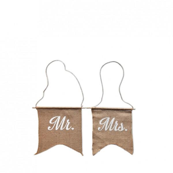 """""""Mr. & Mrs."""" Jute zum Hängen"""