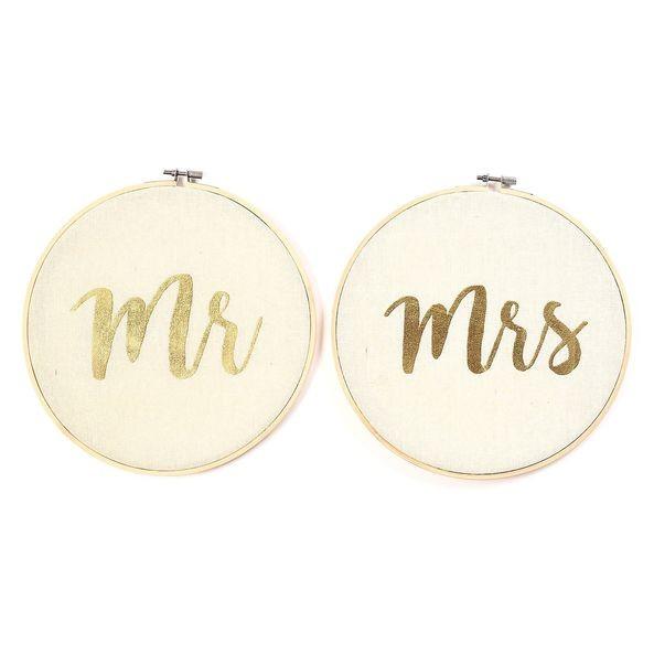 "Stickrahmen ""Mr & Mrs"""