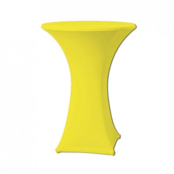 Stehtischhusse Stretch gelb