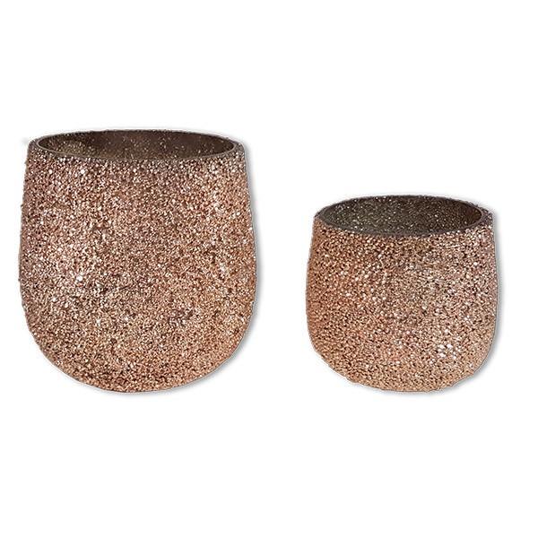 Vase Kupfer-Glitter