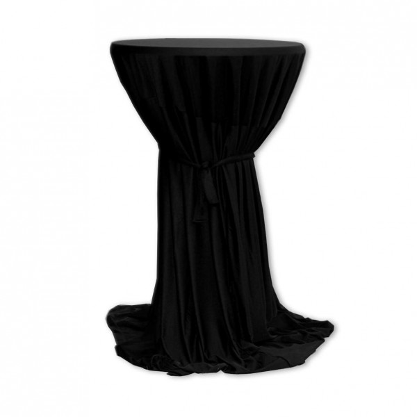 Stehtischhusse Polyester schwarz