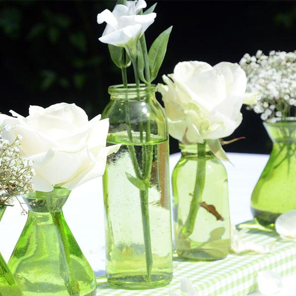 Flaschenvase Gerade Apfelgrün