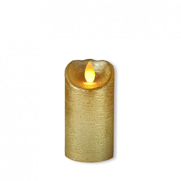 LED Stumpenkerze gold