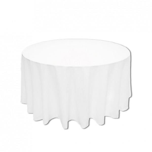 Tischdecke weiss rund 160 cm
