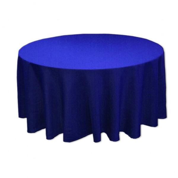 Tischdecke royalblau rund 275 cm