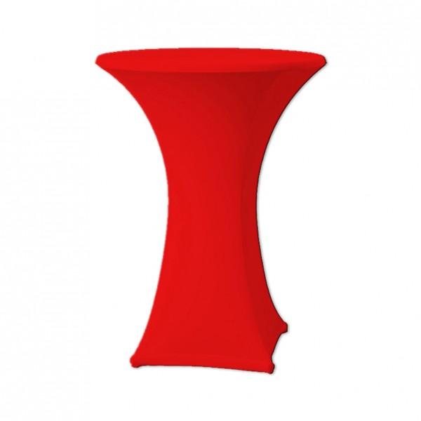 Stehtischhusse Stretch rot