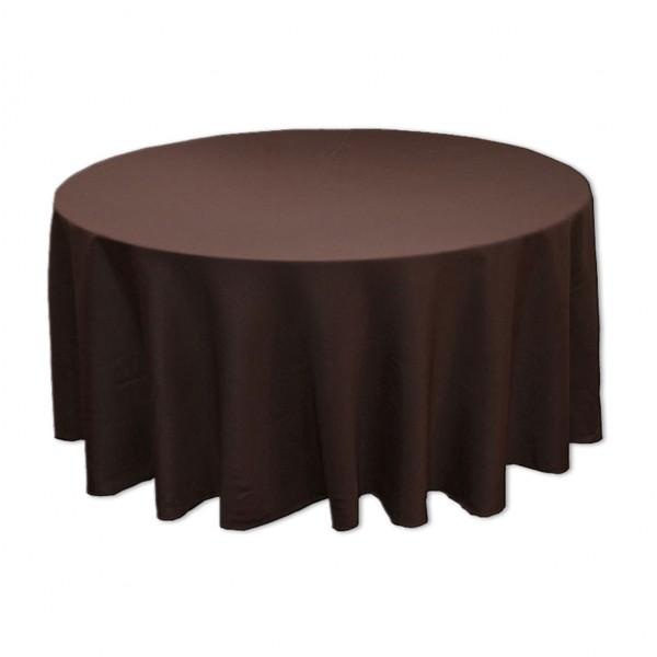 Tischdecke braun rund 275 cm