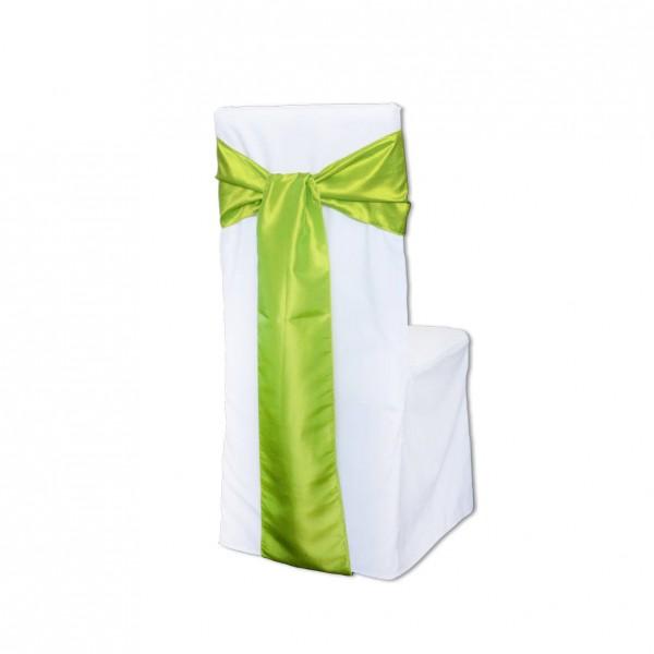 Stuhlhussen Schleifenband apfelgrün