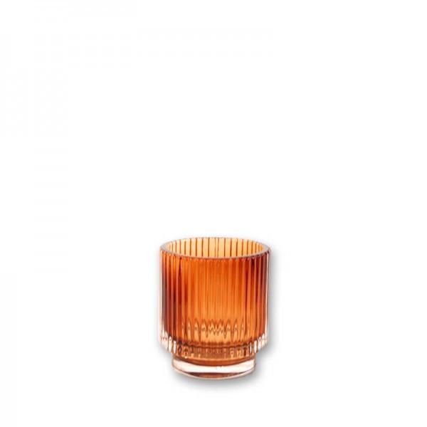 Vase Rille amber