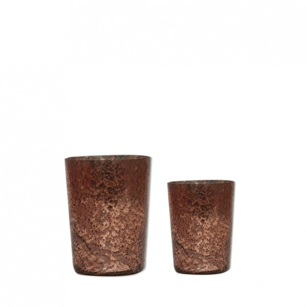 Vase marmoriert Glas kupfer