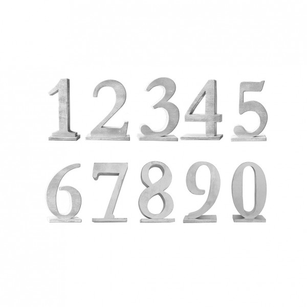 Tischnummer silber