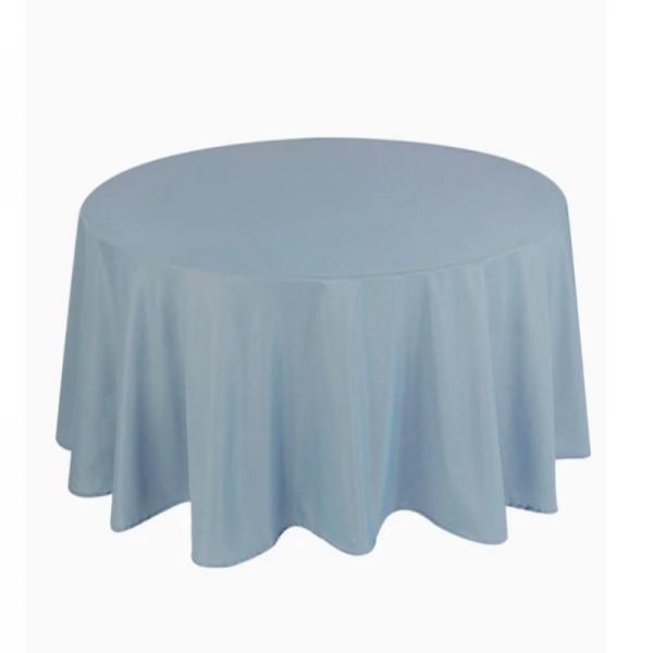 Tischdecke dusty blue rund 275 cm