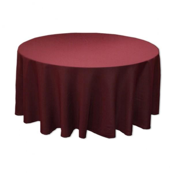 Tischdecke rosenrot rund 275 cm