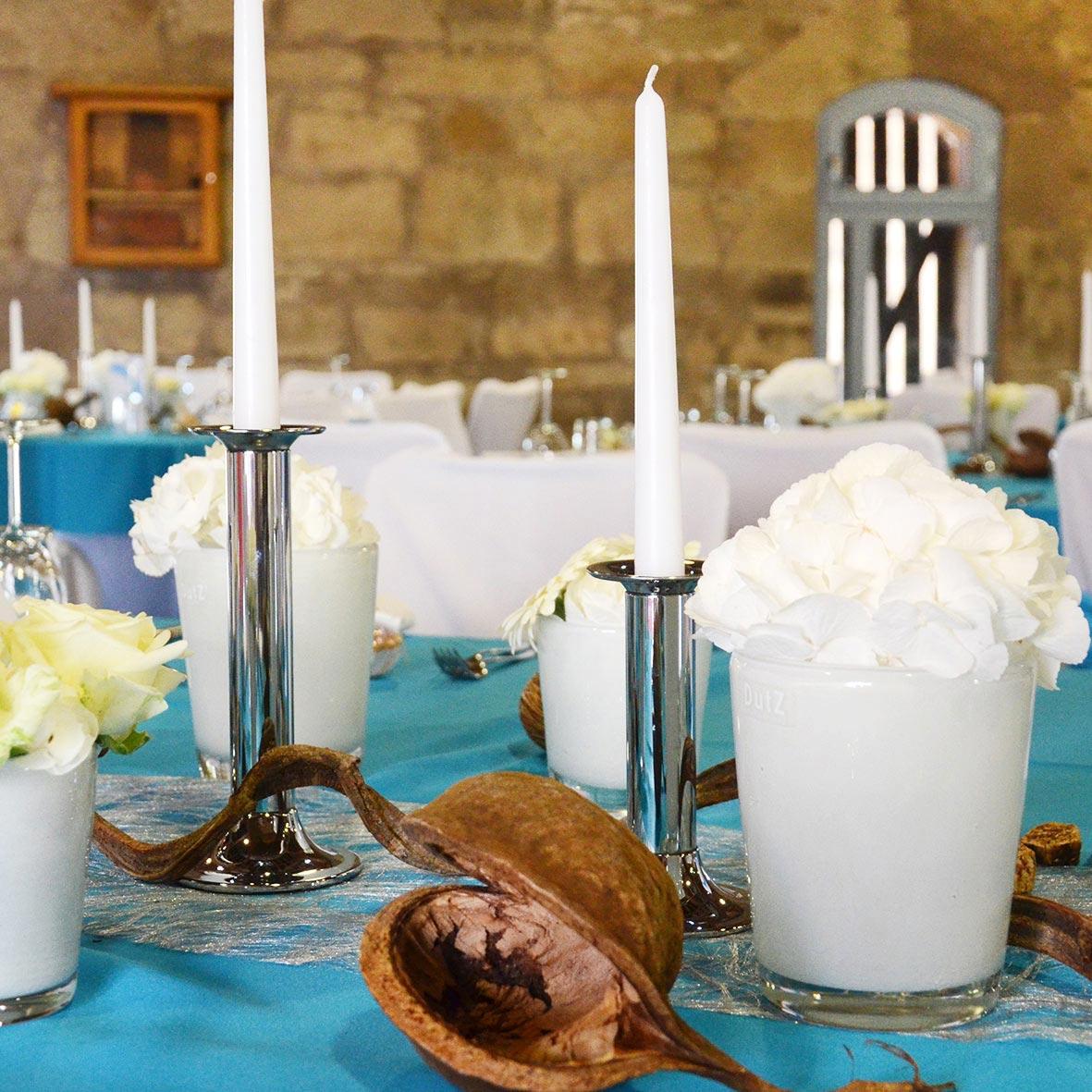 Kerzenständer 1-arm silber