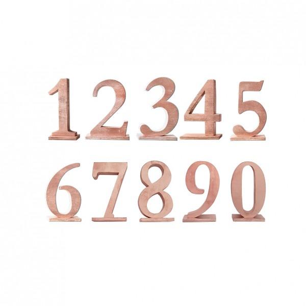 Tischnummer kupfer
