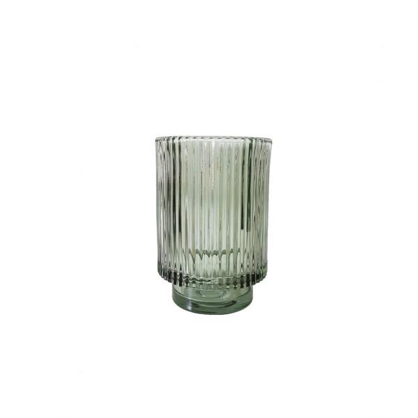 Vase Rille naturgrün
