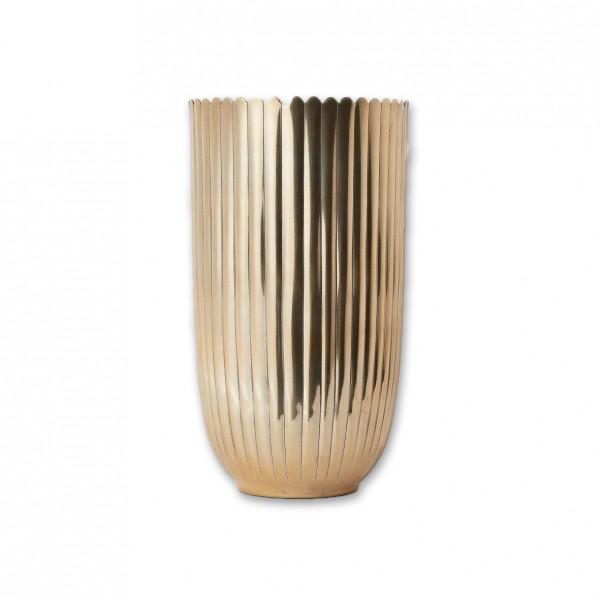 Vase Rille gold
