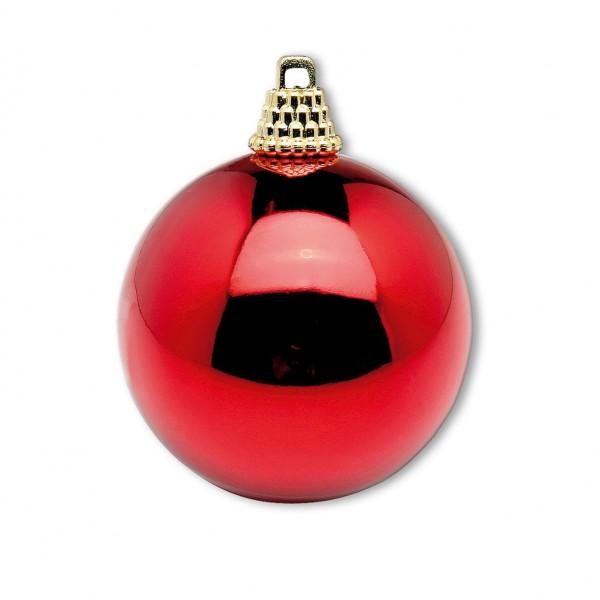 Weihnachskugel rot glänzend