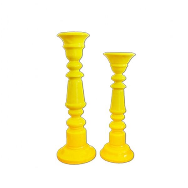 Kerzenständer 1-arm gelb [mieten]