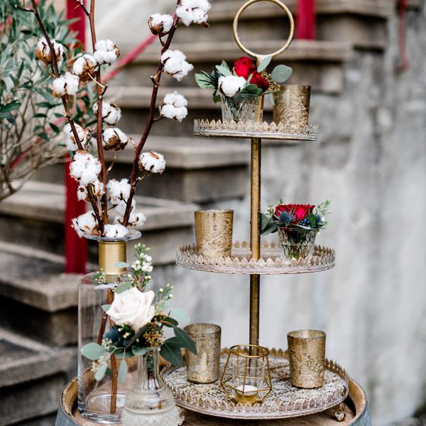 Etagere 3-stöckig Ornamente