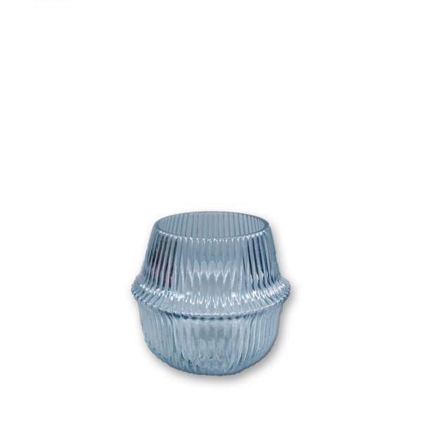 Vase Rille dusty blue