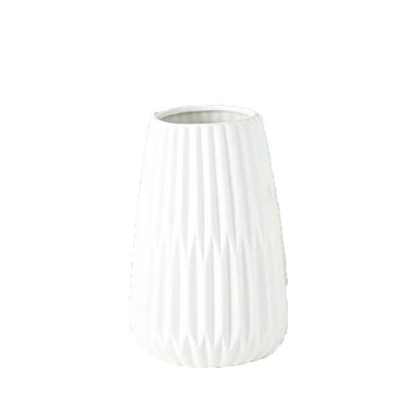 Vase Rille Porzellan matt - Style 4