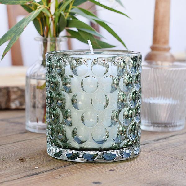 Vase Zylinder Noppen naturgrün