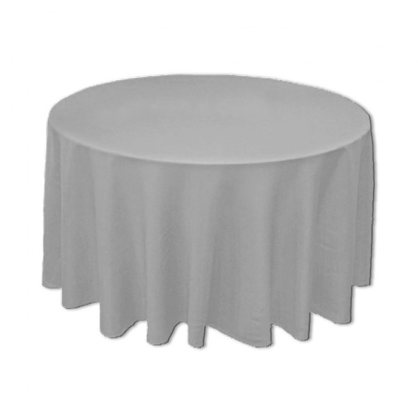 Tischdecke grau rund 275 cm