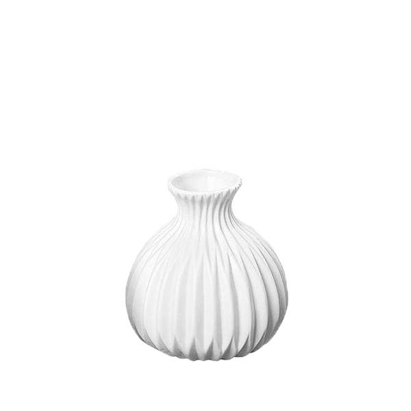 Vase Rille Porzellan matt - Style 3