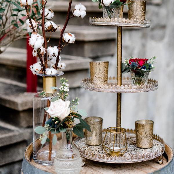 Vase Flori mit Goldreif