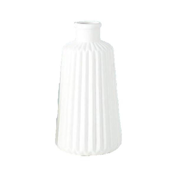 Vase Rille Porzellan matt - Style 5