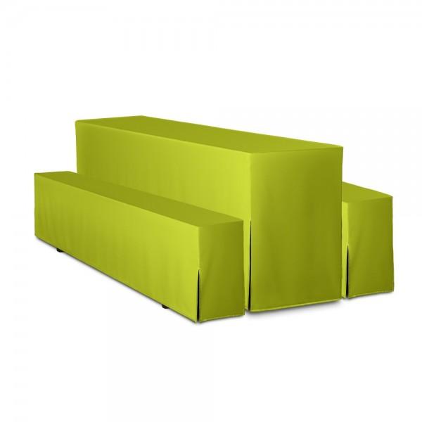 Biertischhussen Set apfelgrün 50x220 cm