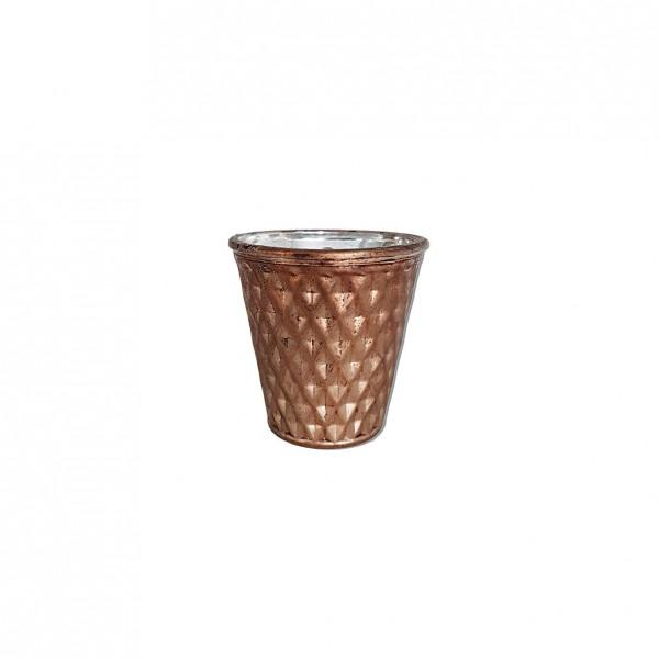 Vase Kupfer Raute