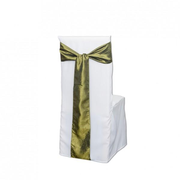 Schleifenband Crackle olivgrün