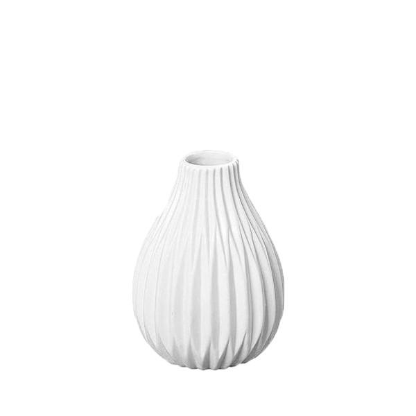 Vase Rille Porzellan matt - Style 1