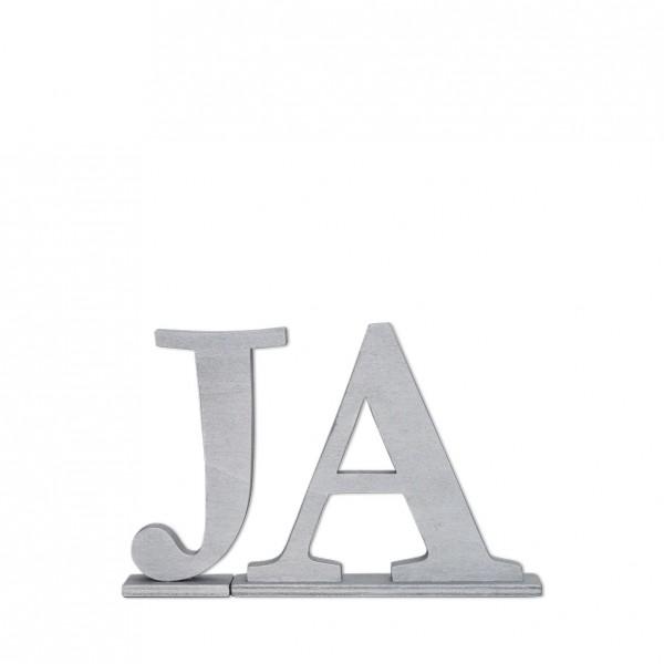 Schriftzug Ja silber