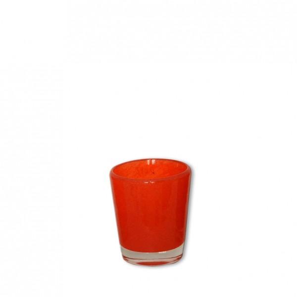 Vase dunkelorange