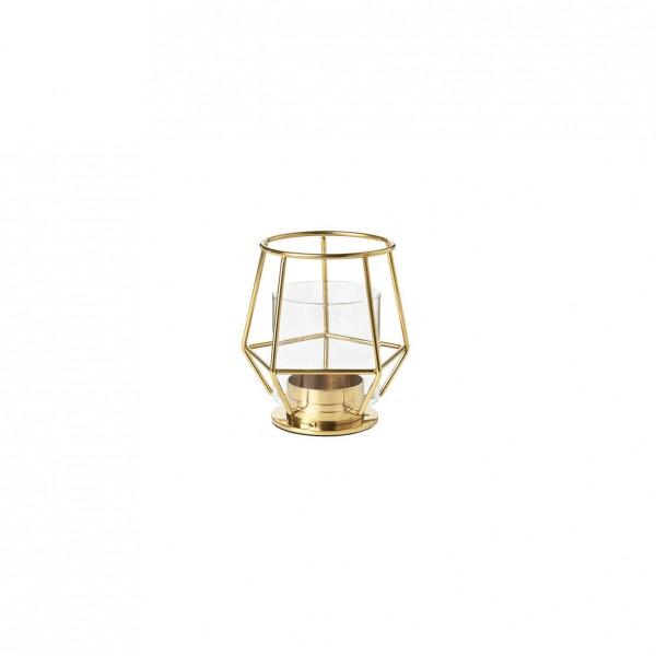 Teelichthalter geometrisch gold [mieten]