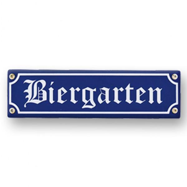 Holzschild Biergarten