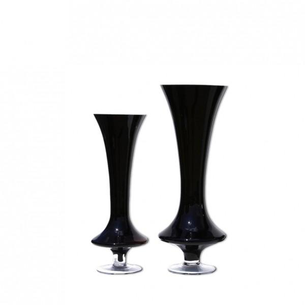 Vase Trompete Schwarz